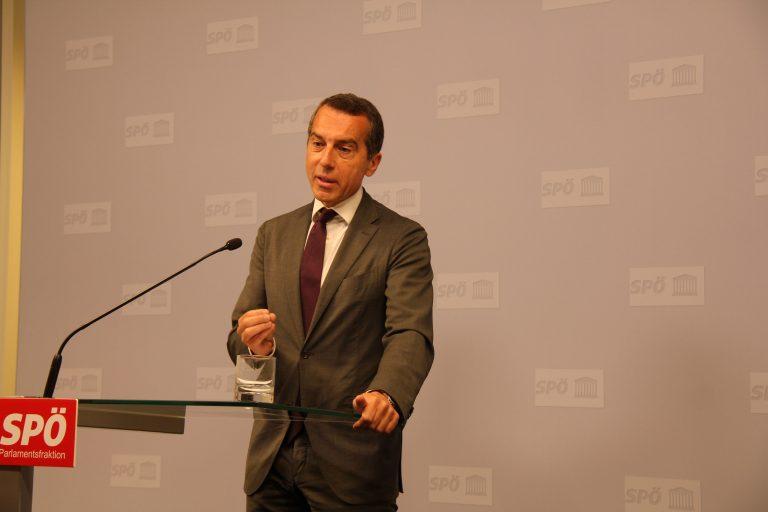 Pressekonferenz mit SPÖ-Klubobmann Christian Kern, 27.07.2018