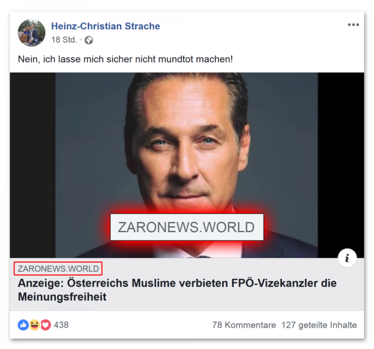 Screenshot von FPÖ Fails